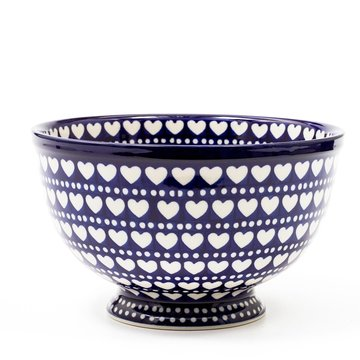 Bowl on Foot Blue Valentine
